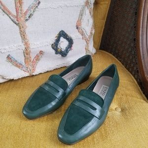 Vintage - Green Leather Loafers